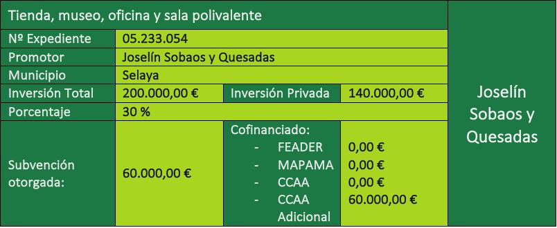 Inversión en Joselín del Programa LEADER Cantabria 2014-2020